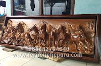 jual ukiran kuda kayu murah