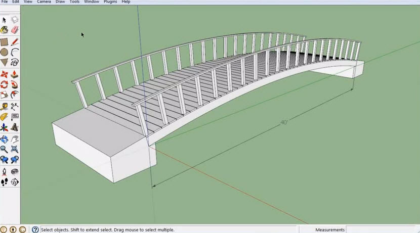 How to write a 3D model of a wooden bridge applications