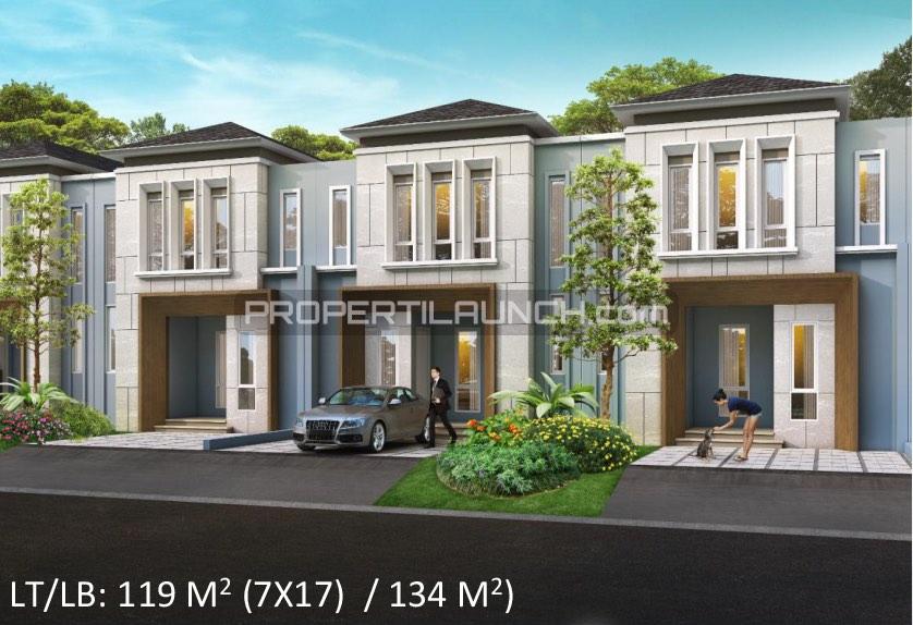 Tipe 7x17 rumah cluster Leora Alam Sutera
