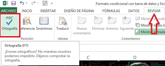 Como revisar y corregir la ortografía en Excel ~ Aprende y Enseña Excel