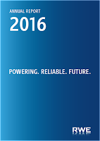 Front page of the annual 2016 report from RWE