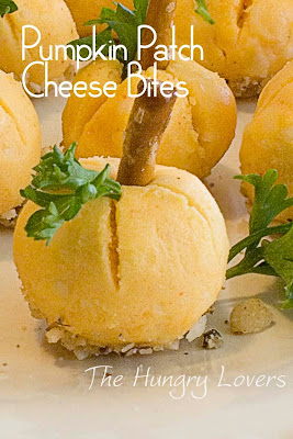 Pumpkin Patch Cheese Bites - Appetizer