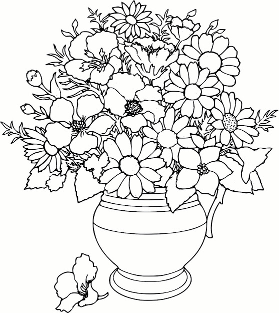 Captivating Coloring Pages Draw Easy Flowers Cool Printable Flower  Printable Full Version