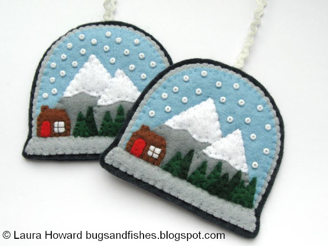 felt snow globe ornaments