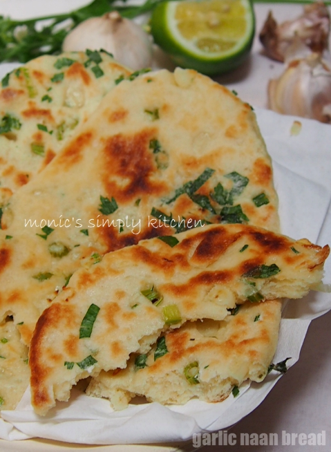 resep garlic naan bread