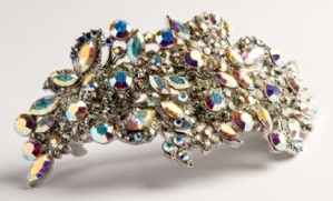Estiva Swarovski Barrette by Stone Bridge, Luxury Hair Accessories