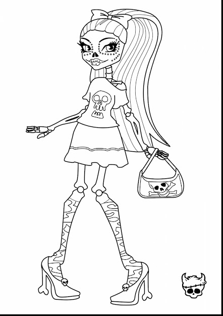 Magnificent Monster High Skelita Coloring Pages With Monsters Inc Coloring  Pages And Monsters Inc Characters Coloring