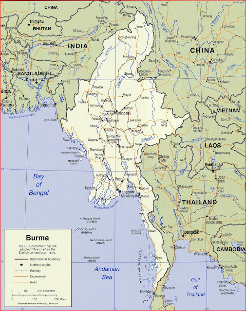 image: Burma Political Map