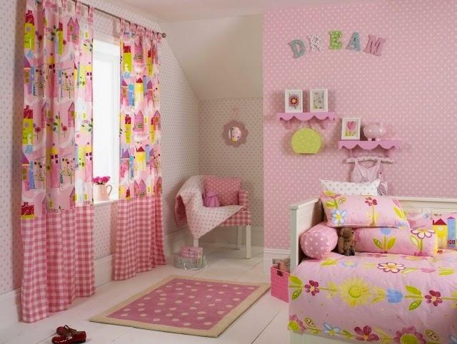 cuarto rosado para niña