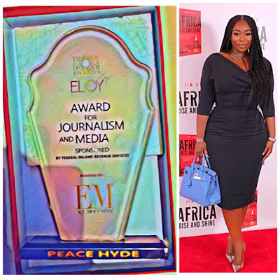 Peace Hyde Wins 2018 Exquisite Lady Of The Year For Journalism And Media In Nigeria