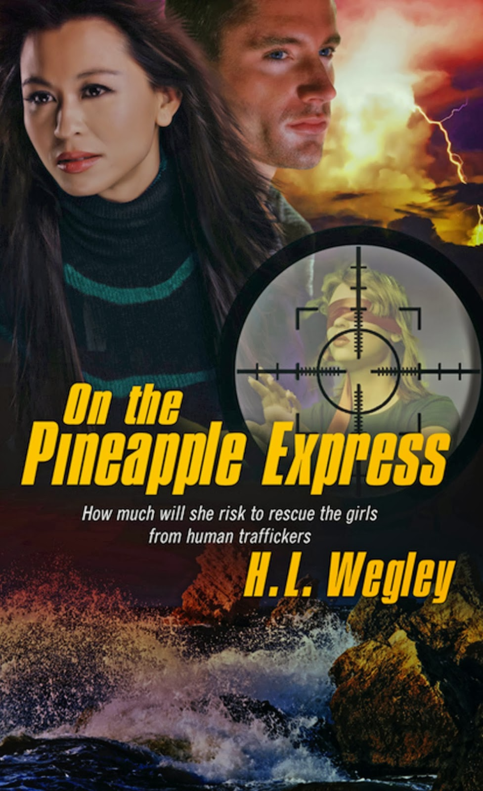 On the Pineapple Express. A man and woman are shown on the cover. Waves are crashing on rocks at the bottom of the cover.