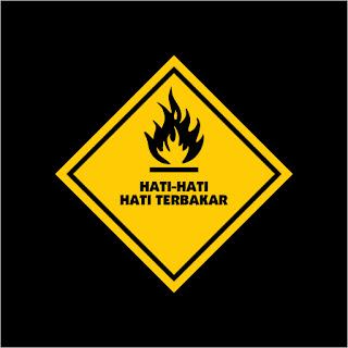 Hati-Hati Hati Terbakar Free Download Vector CDR, AI, EPS and PNG Formats