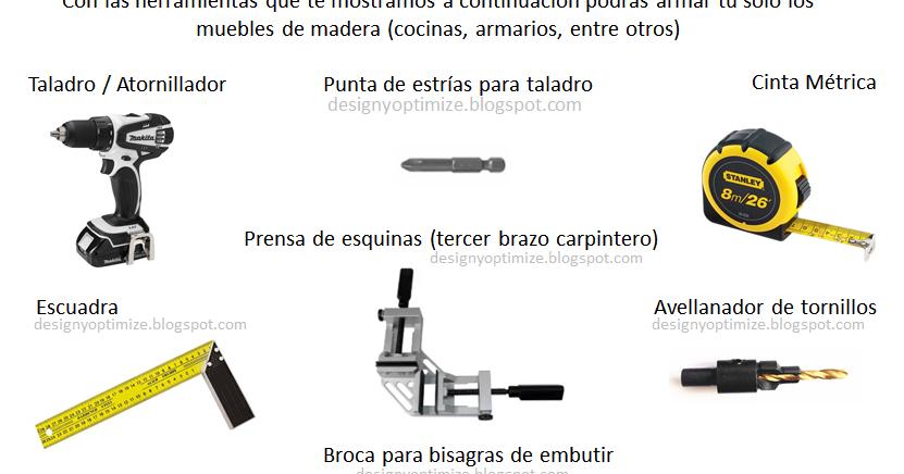 Dise o de muebles madera lista de materiales y for Lista de materiales de cocina