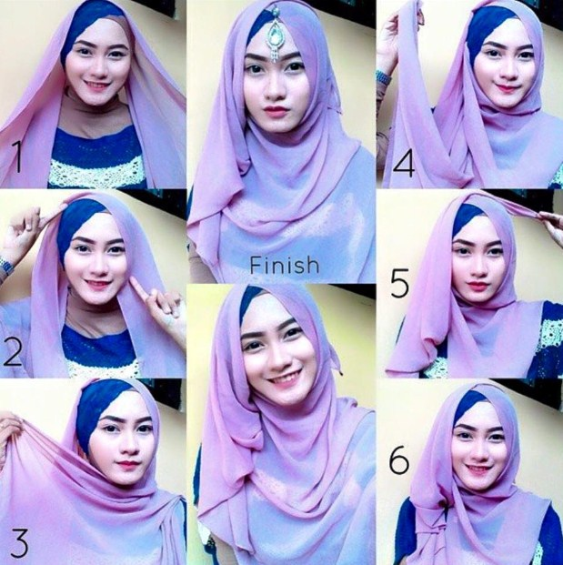 Cara Menggunakan Hijab Pashmina Simple