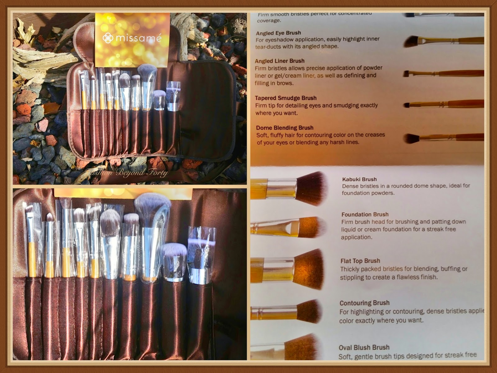 Missame 10 Piece Bamboo Handle Synthetic Makeup Brush Set Review