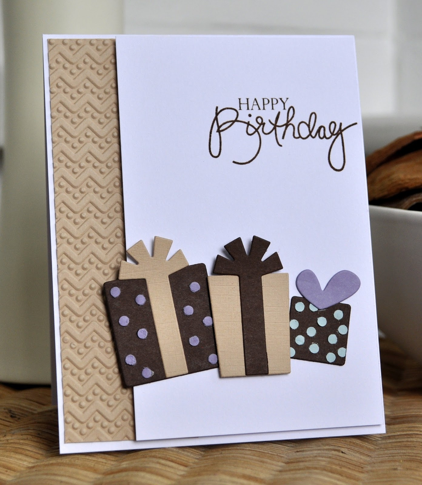 Inky Fingers: Papertrey Ink Unisex birthday card