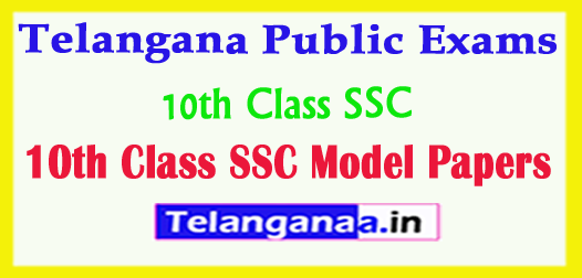 Telangana Public Exams 10th Class SSC Model Papers 2018