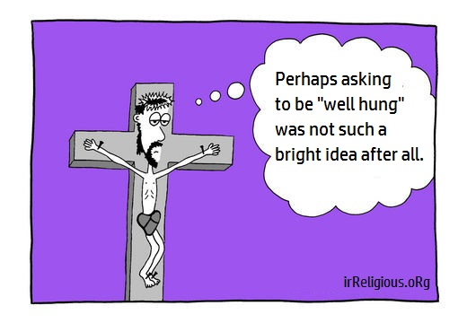 Funny Jesus Well Hung Cartoon Joke Picture
