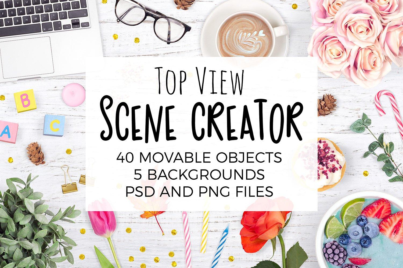 Scene Creator Mockup Top View Bundle