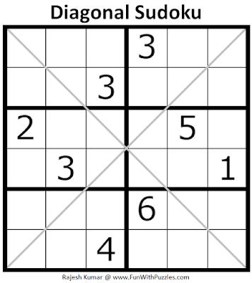 Diagonal Sudoku Puzzle (Mini Sudoku Series #107)