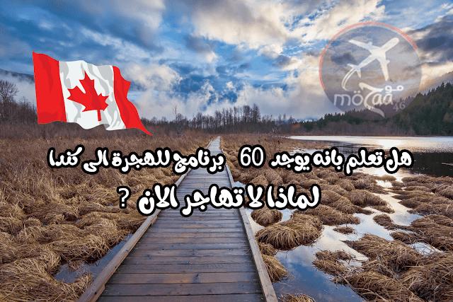 الهجرة الى كندا – يوجد  اكثر من 60 برنامج للهجرة الى كندا لم لا تهاجر