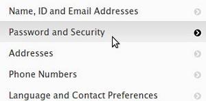 Ganti Password Apple ID