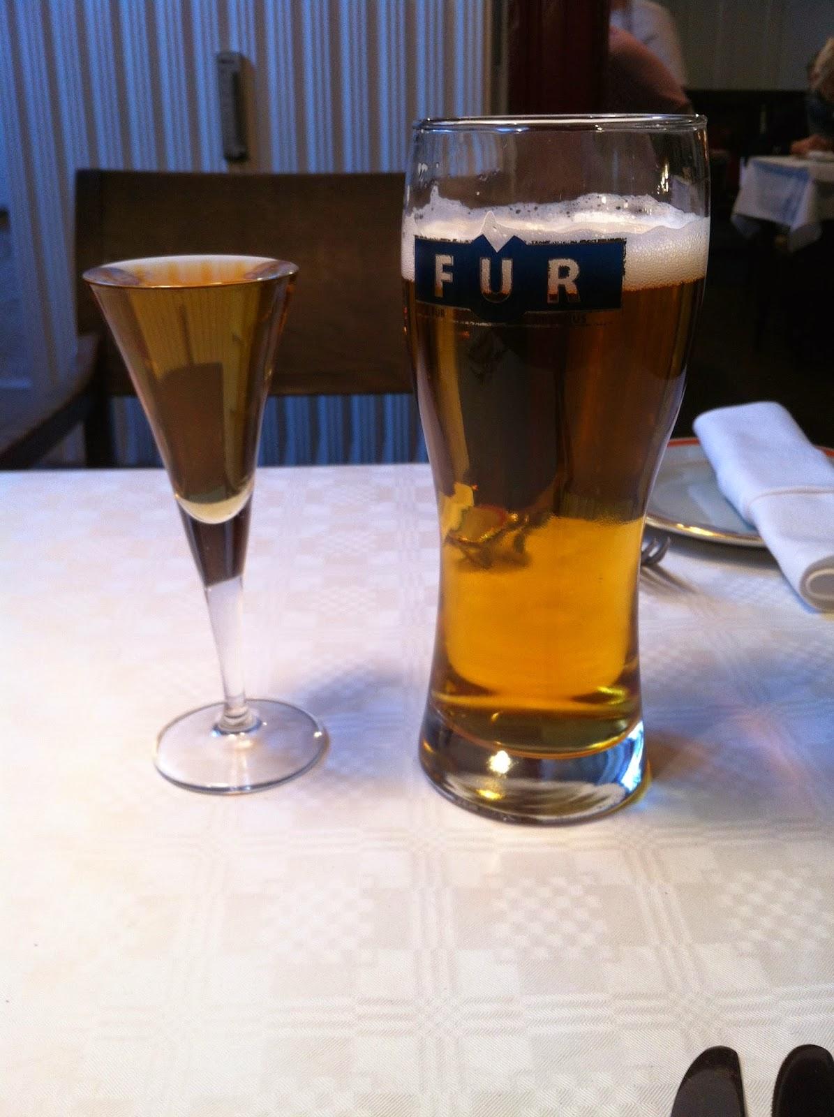 beer and hard liquor in Copenhagen