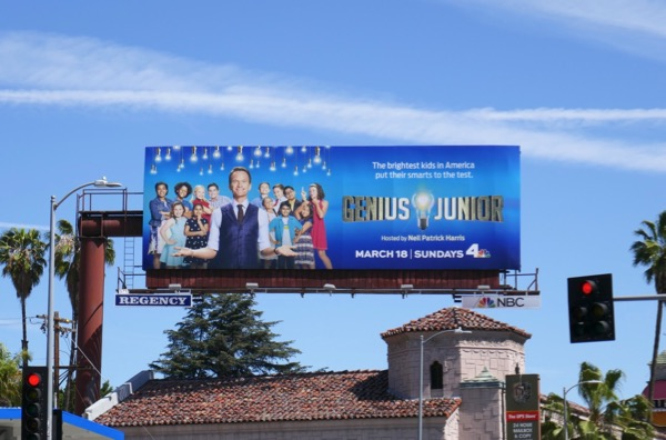 Genius Junior series launch billboard