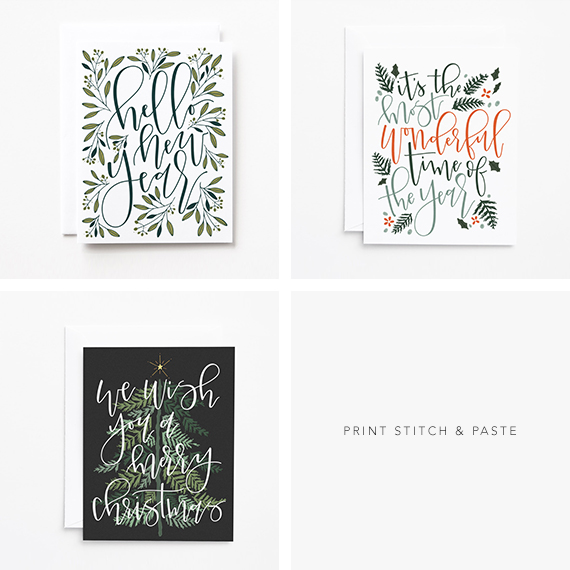 Christmas Cards from Print Stitch & Paste
