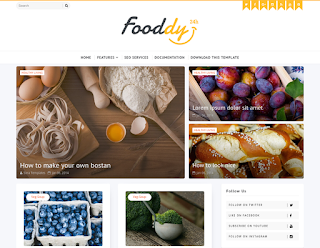 Fooddy Blogger Template