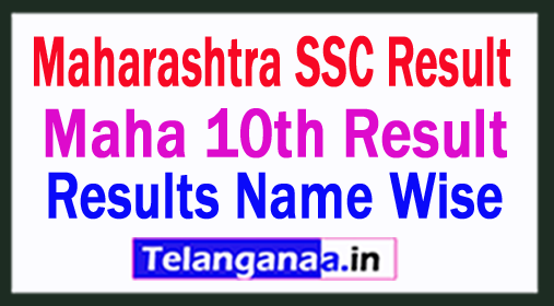 Maharashtra SSC Result 2018 Maha 10th Result 2018 Name Wise