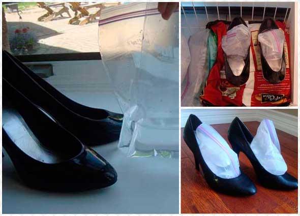 zapatos, agrandar en el congelador, truco, tips, métodos
