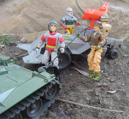 1987 Road Toad, Dodger, Battleforce 2000, 1994 action Sailor, Rumbler, Knockdown, Sneak Peek, Backstop, 1983 Wolverine