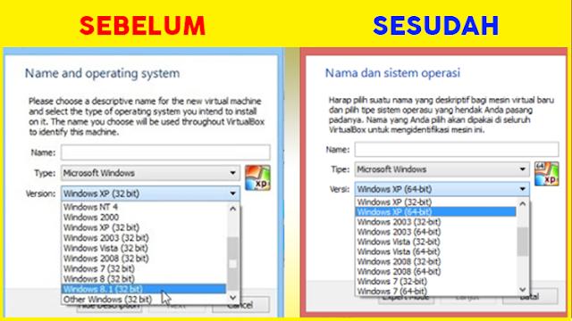 Cara Mengatasi dan Menampilkan Fitur OS 64 bit pada VirtualBox