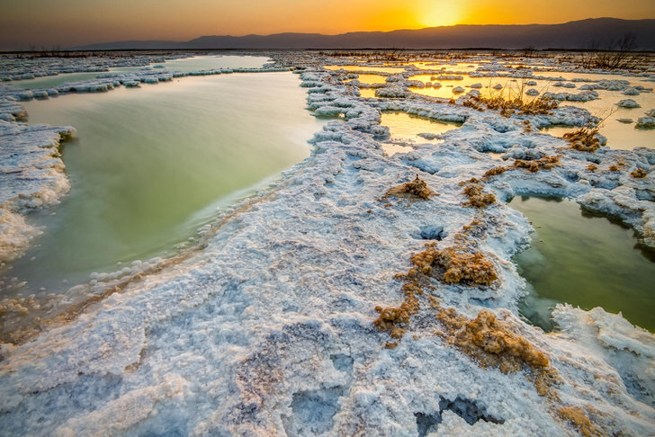 The 10 Most Amazing Watery Wonders Around The World - The Dead Sea (Jordan/Israel)
