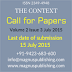 Call for Papers The Context  Volume 2 Issue 3