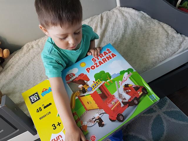 Klocki Blocki straż pożarna prezent na Dzień Dziecka