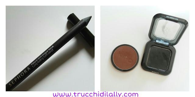 matita nera Sephora e Ombretti Infinity Cacao mat e nero High Pigment 15