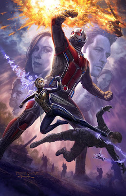 San Diego Comic-Con 2017 Exclusive Ant-Man & the Wasp Concept Art Movie Poster by Andy Park x Marvel