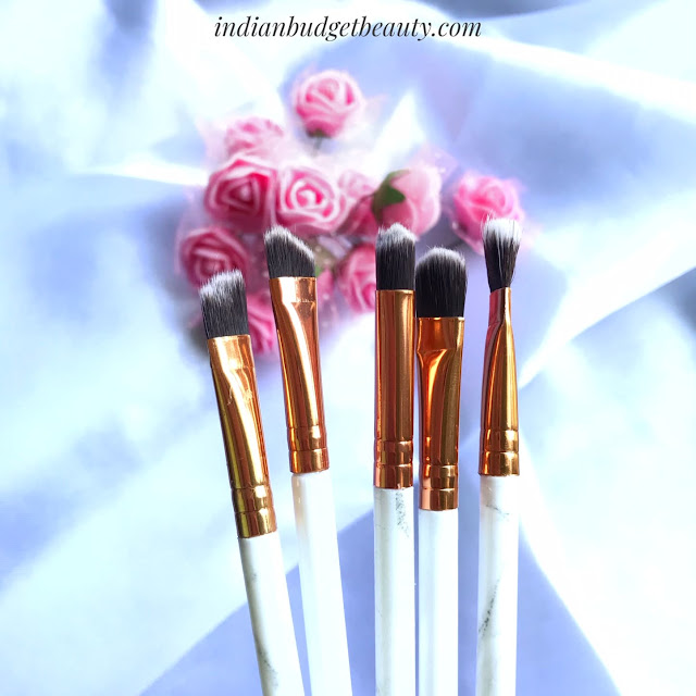 Marble eye makeup brushes beautybigbang