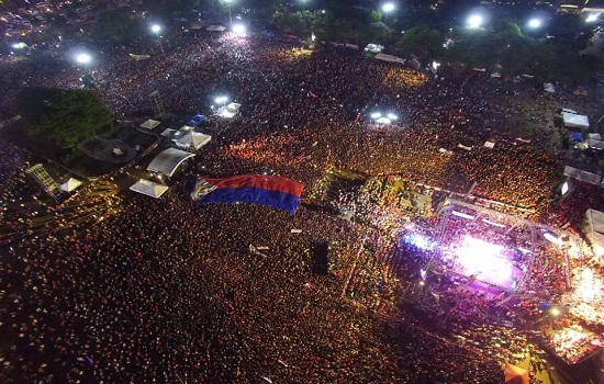Duterte's Luneta Park Final Rally gathered Millions of Supporters