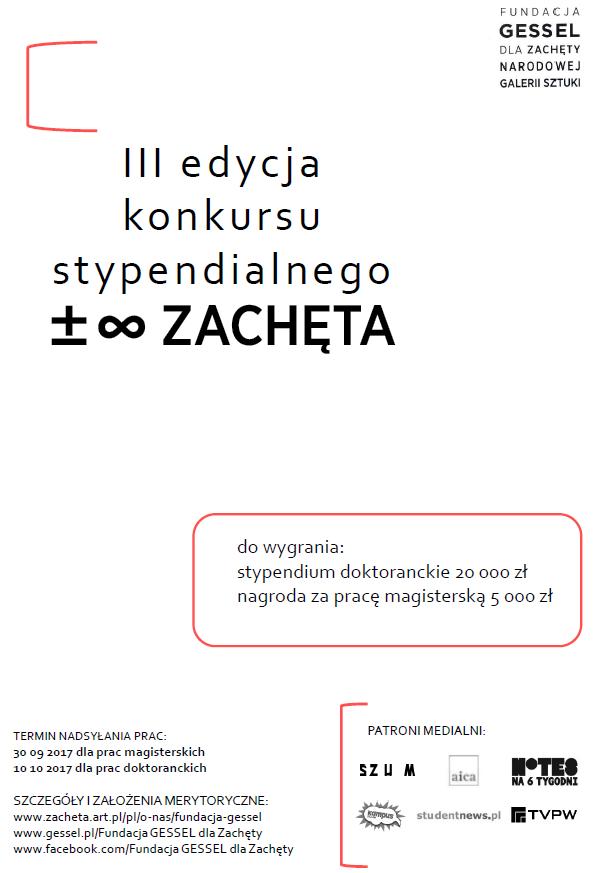 Program ±∞Zachęta - plakat