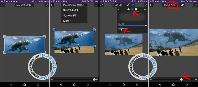 tutorial cara mudah Cara Edit Foto Membuat Efek Ikan Paus dan Gajah di atas awan langit