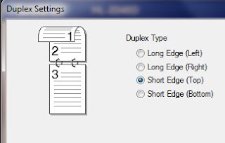 Set Duplex type to Short Edge(top)