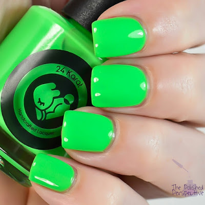 24 karat lacquer a brighter shade of green swatch