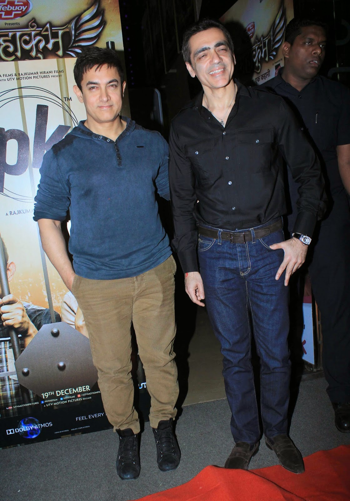 Amir Khan & Anushka Sharma at Special Screening Of 'PK' For Policemen