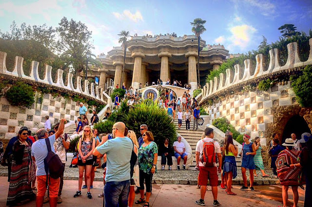 monumental zone, park guell, barcelona, travel photography, spain