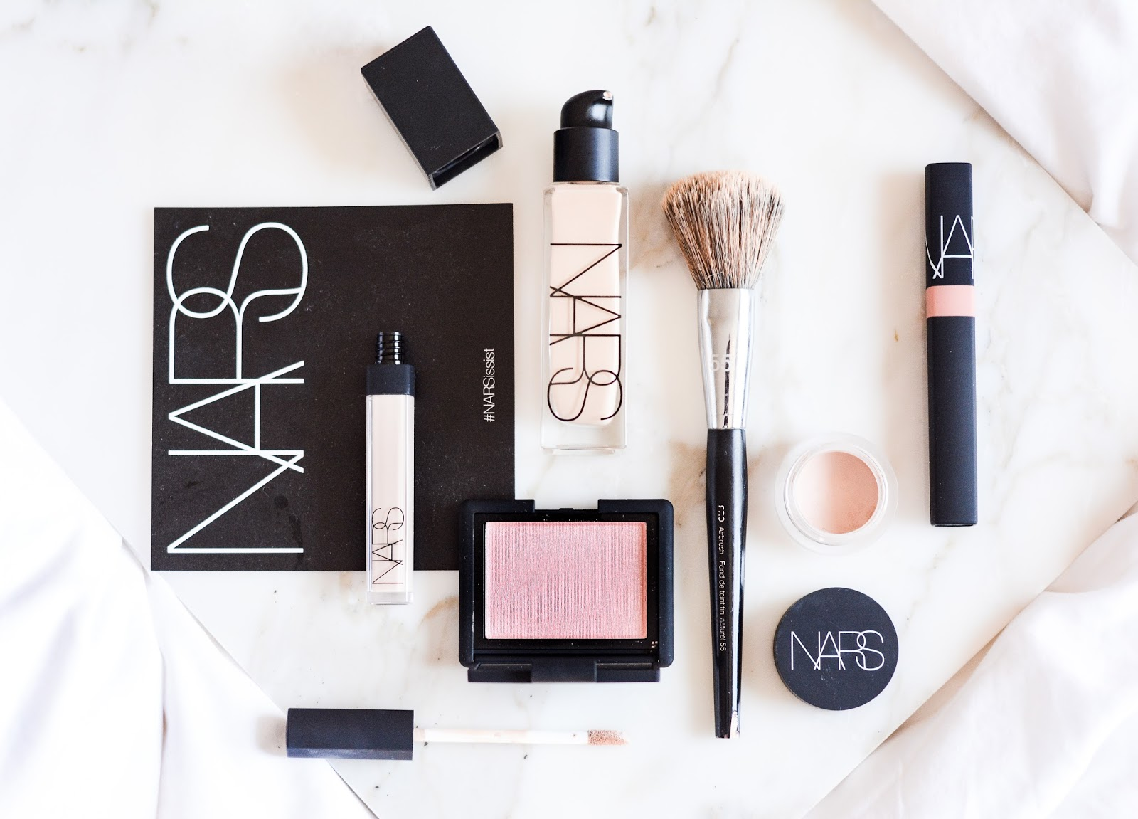 NARS Natural Radiant Longwear Foundation Swatches Review Face Photos