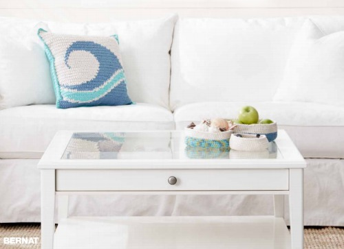 Coastal Pillow Crochet DIY Idea from Michaels