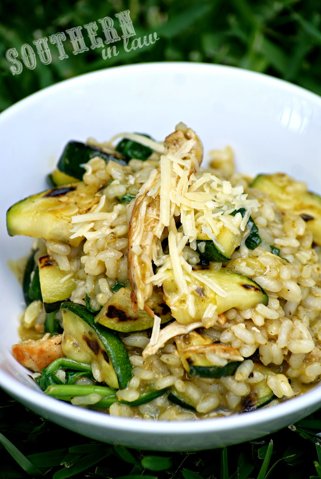 Healthy Chicken Pesto Risotto Recipe - low fat, gluten free, healthy, sugar free